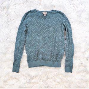 Loft lightweight cotton pointelle sweater